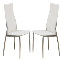 Set of 2 Modern Dining Side Chairs Chair Metal Frame Legs ...