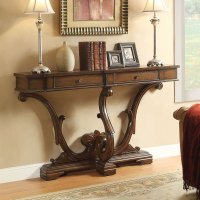 Accent Hallway Entryway Sofa Console Table Curved Legs 2 ...