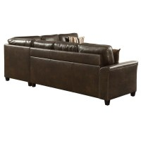 Living Room Sectional Couch Pull Out Sofa Bed Sleeper Dark ...