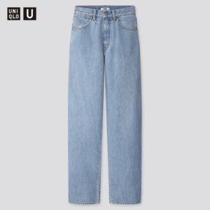 【ユニクロ】ワイドフィットカーブジーンズ(丈標準76cm)