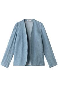 【MADISON BLUE】(マディソンブルー)ノーカラーブロークンデニムジャケット