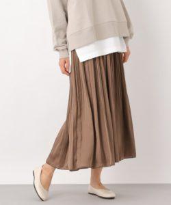 【LEPSIM】ヴィンテージサテンケシプリーツスカート