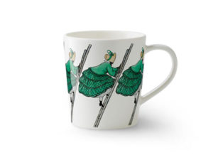Design House Stockholm(デザインハウスストックホルム)/Elsa Beskow Collection Mug with handle Aunt Green