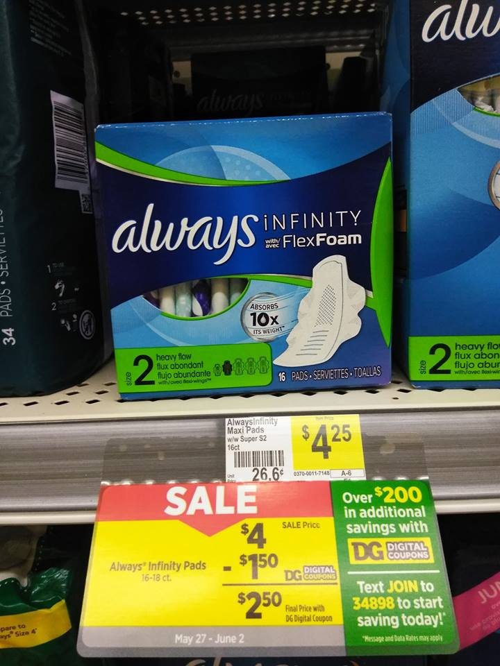Dollar General Pads : dollar, general, Price, Feminine, Products, Dollar, General!, Momma, Taught
