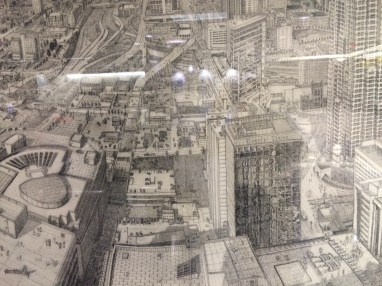 Michael Ehlbeck's drawing of downtown Atlanta