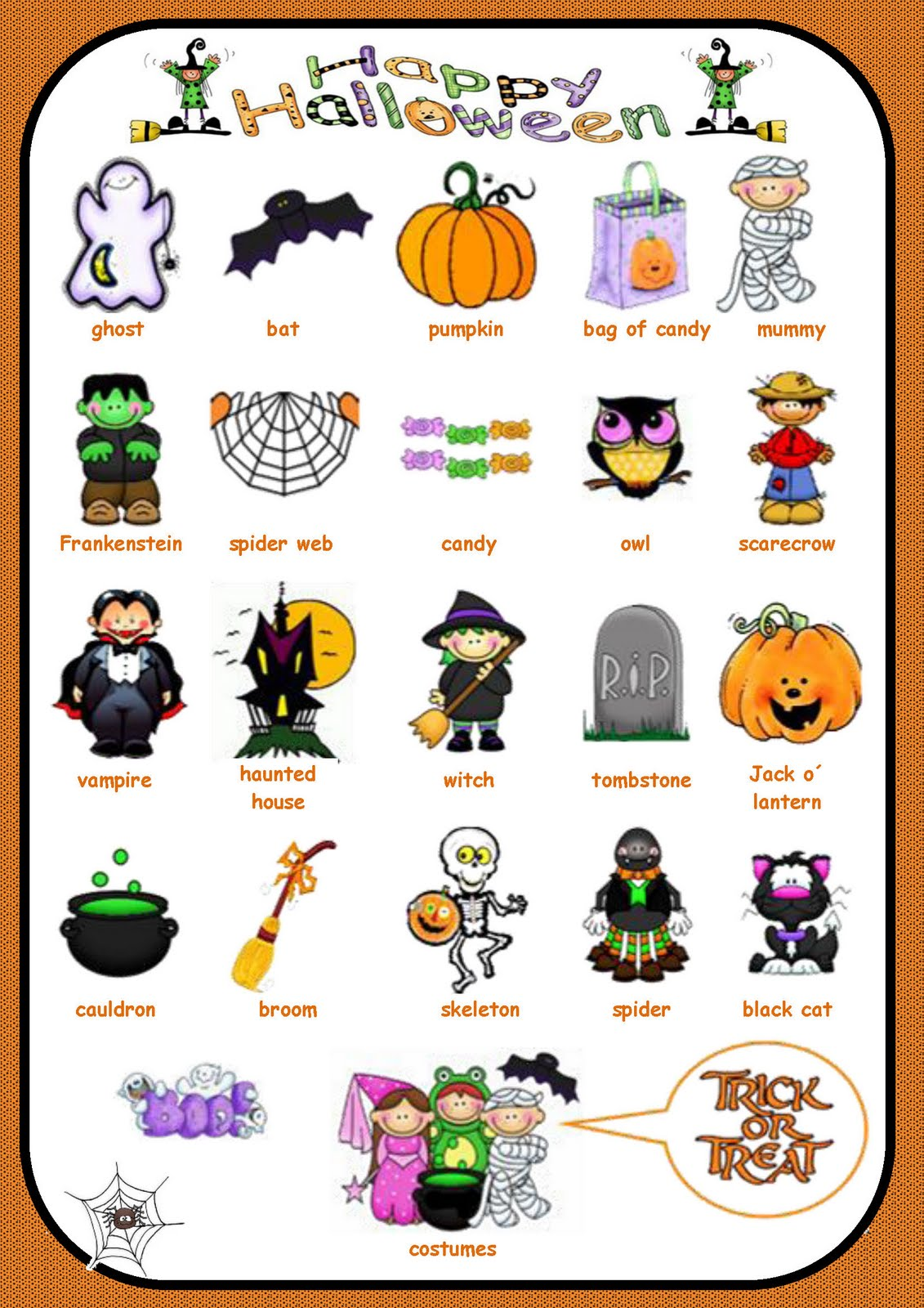 Vocabulary Of Halloween