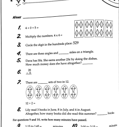 3rd Grade Math Minutes Worksheets   Printable Worksheets and Activities for  Teachers [ 1470 x 1024 Pixel ]