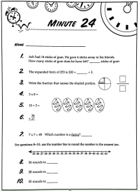 worksheet. Math Minute. Grass Fedjp Worksheet Study Site