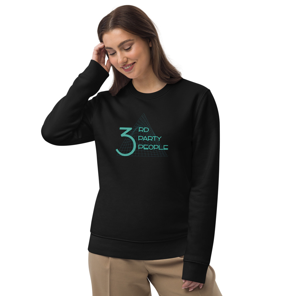 3rd Party People Unisex eco sweatshirt black and white