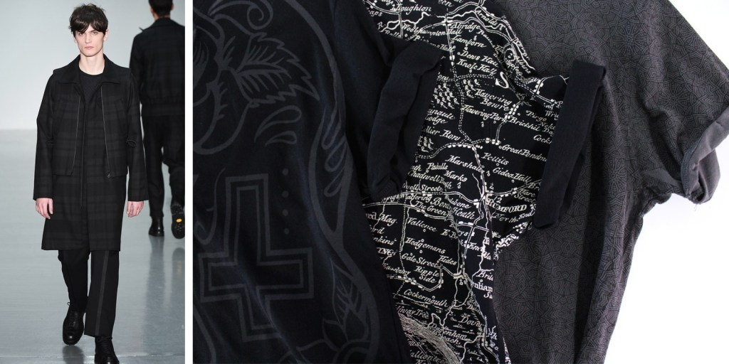 Goth inspired t-shirts and Lou Dalton AW15 catwalk