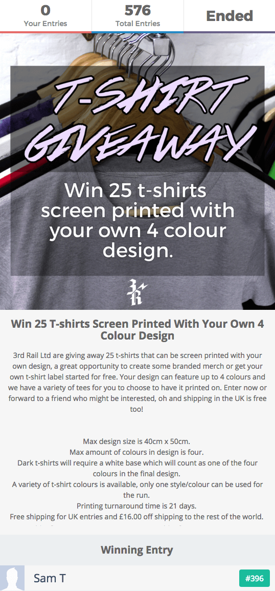 T-Shirt Giveaway Contest