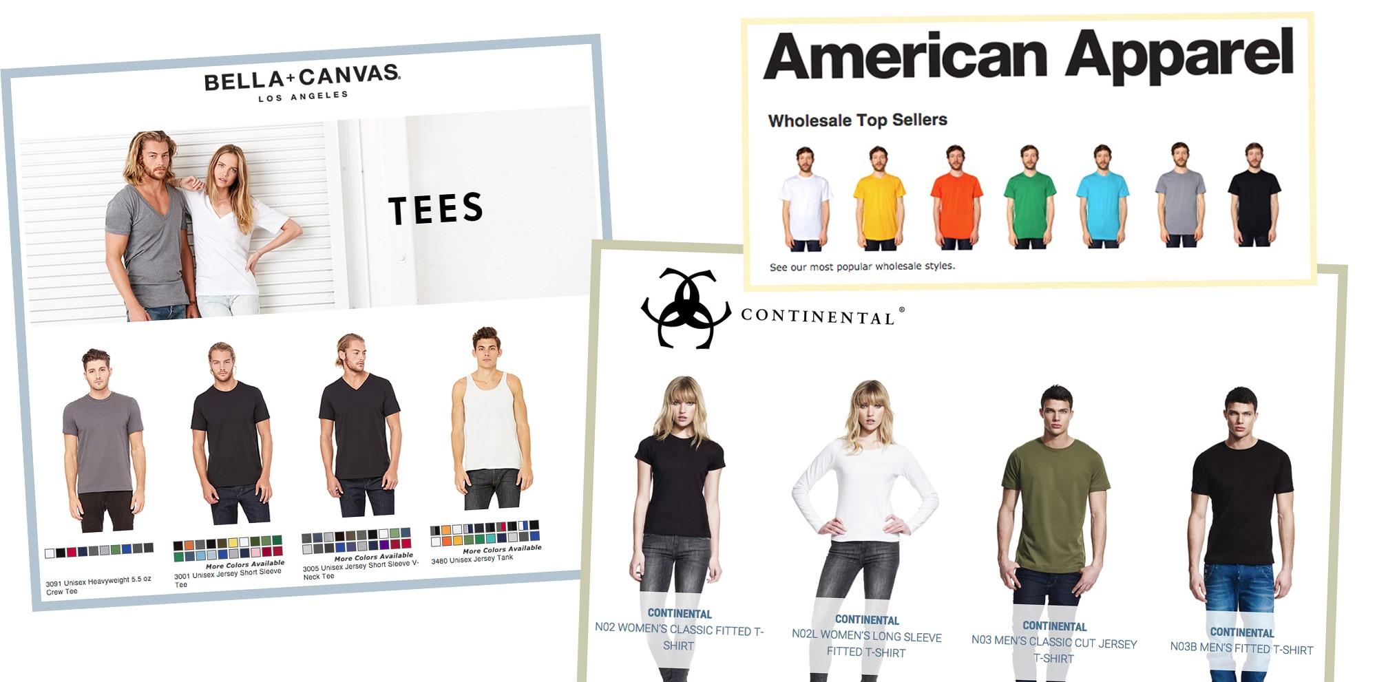 Wholesale T-shirt suppliers