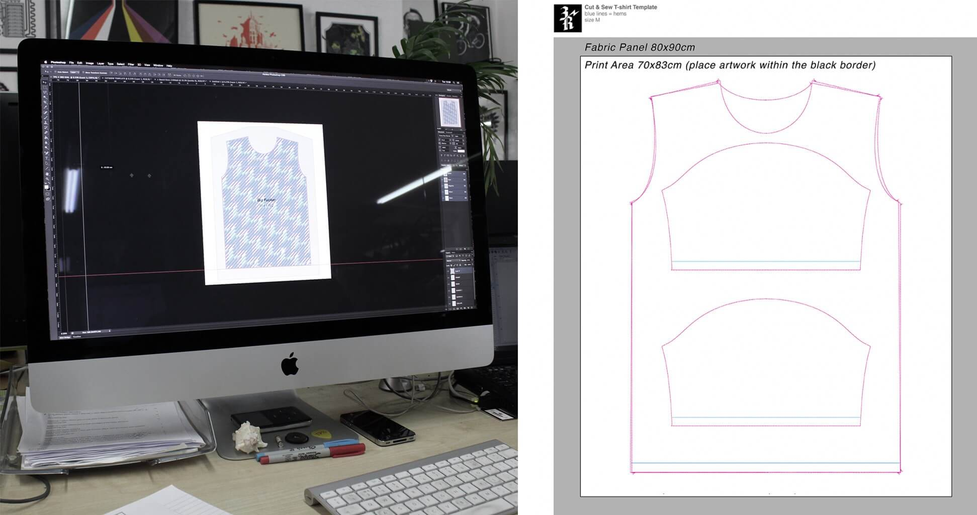 Cut and sew template