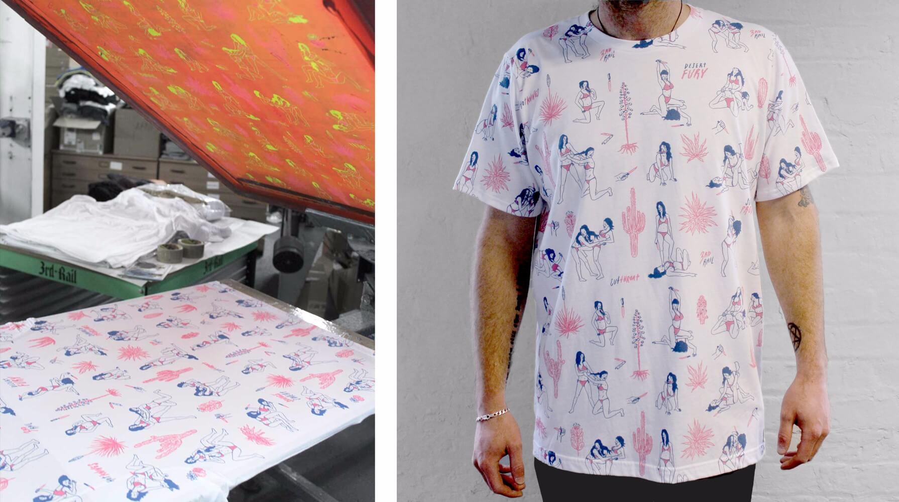 Sean Morris x 3rd Rail for Pick Me Up t-shirts.