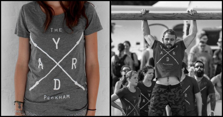 Crossfitters wearing t-shirts printed by 3rd Rail