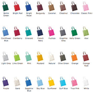 25 x Tote Bags With A 1 Colour Screen Print