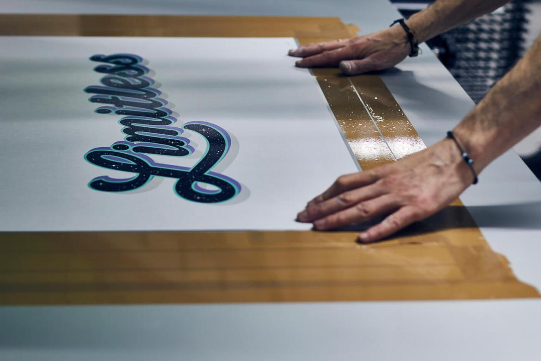 Live Printing Lucinda Ireland's 'Limitless'