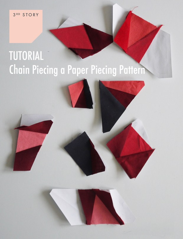 Tutorial Chain Piecing A Paper Piecing Pattern 3rd Story Workshop
