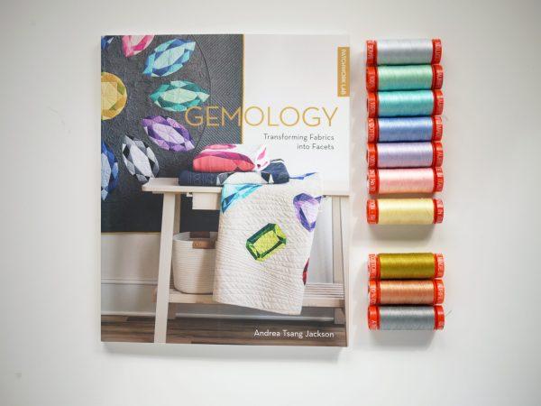 Andrea Tsang Jackson, Gemology Book, Gemstone Quilt, Aurifil Thread