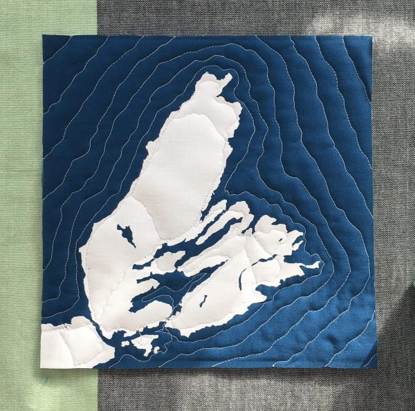 Cape Breton Map, Nova Scotia, Andrea Tsang Jackson, 3rd Story Workshop, Quilted Map