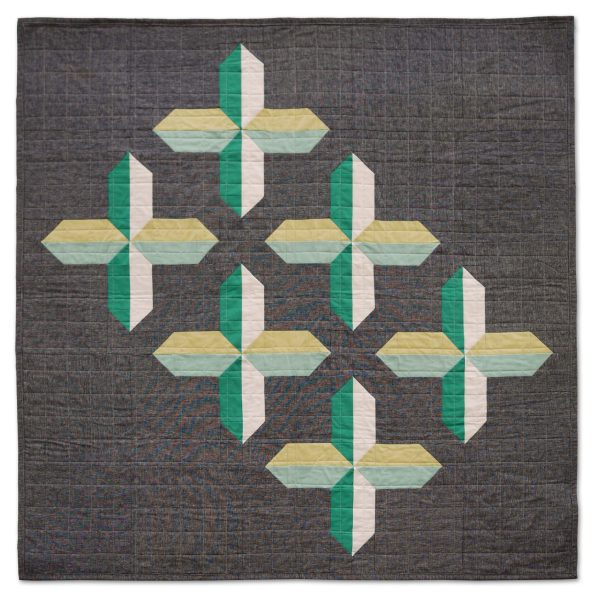 Modern Quilt Pattern - 3rd Story Workshop - The Positive Side - Sample by Seam Work