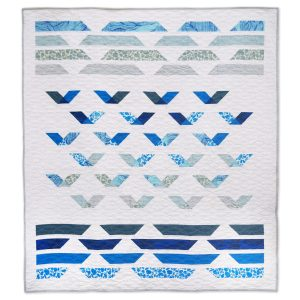 Coastal Ocean Quilt Pattern - Modern Quilt - Guided Flight Quilt - 3rd Story Workshop
