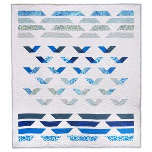 Coastal Ocean Quilt Pattern - Modern Quilt - Guided Flight Quilt - 3rd Story Workshop
