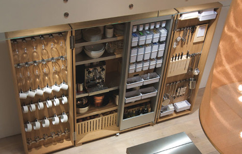 3rings  The b2 Kitchen Tool Cabinet by Bulthaup