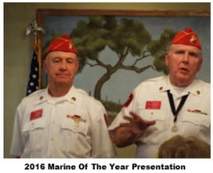 2016 Marine of the Year