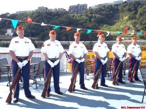 George Phil Dan Bob Karl Calvin Honor Guard