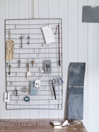 home office ideas wire wall rack with hooks | Homegirl London