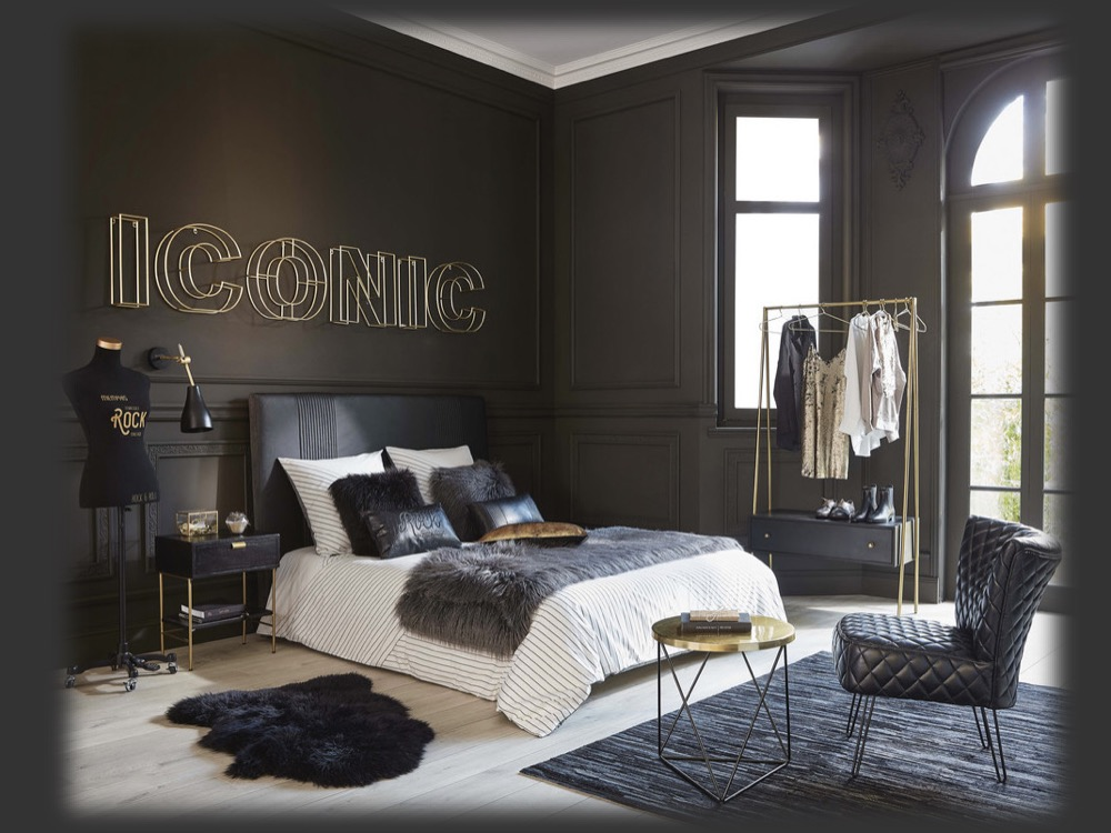 luxury black and gold bedroom ideas