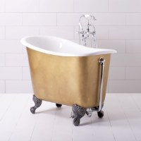 Small freestanding bath makes big bathroom splash ...