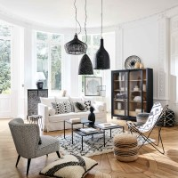 Monochrome Moroccan Living Room Ideas | Homegirl London