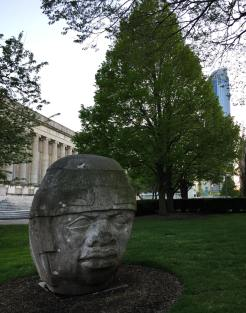 "Olmec says ""Good evening!"""