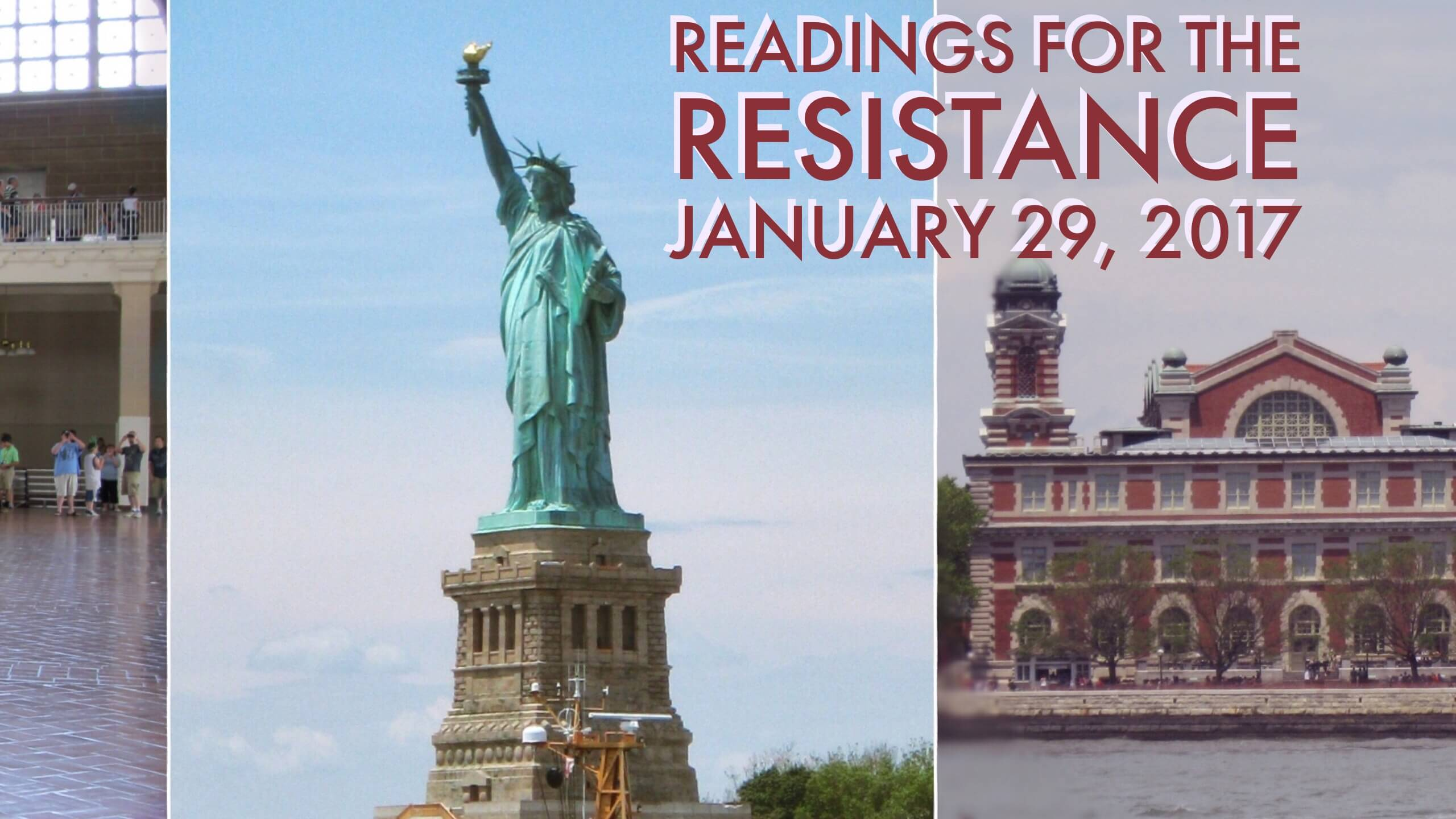 readings for the resistance 1-29-2017