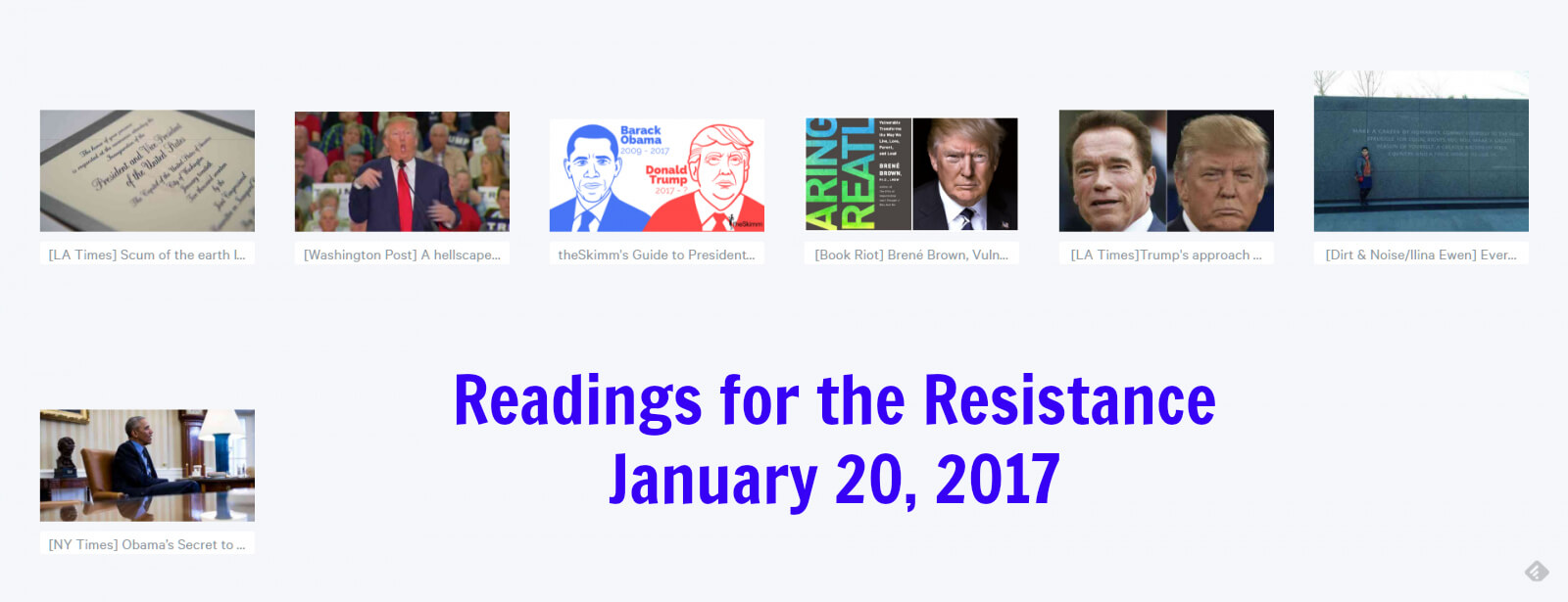 reading for the resistance: links