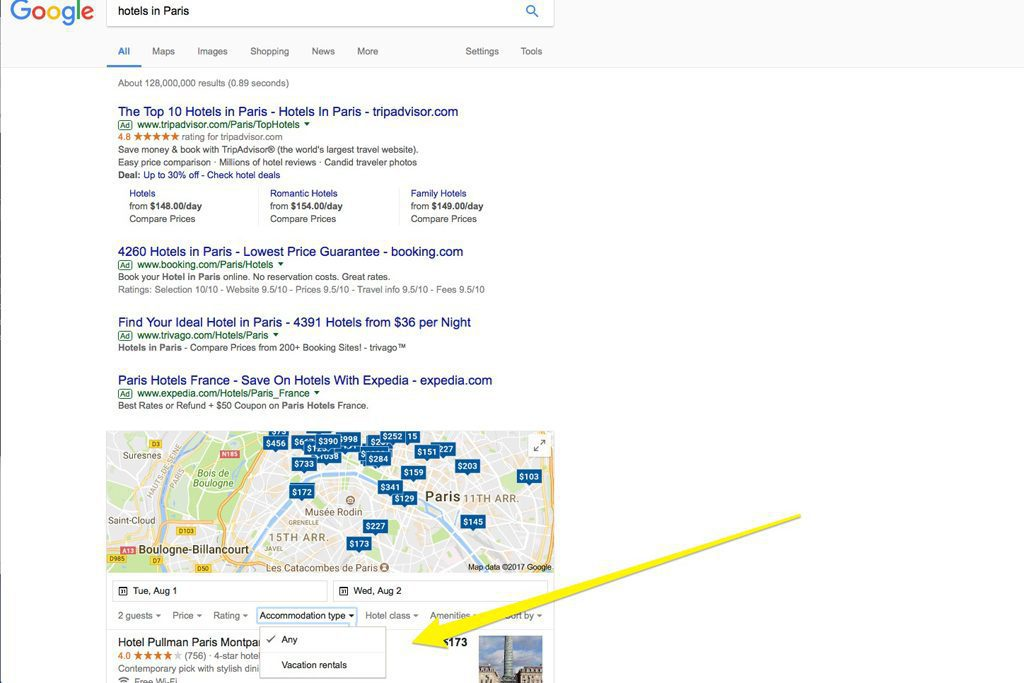 Google Is Testing Vacation Rental Search In Its Hotel Price Comparison Tool Skift