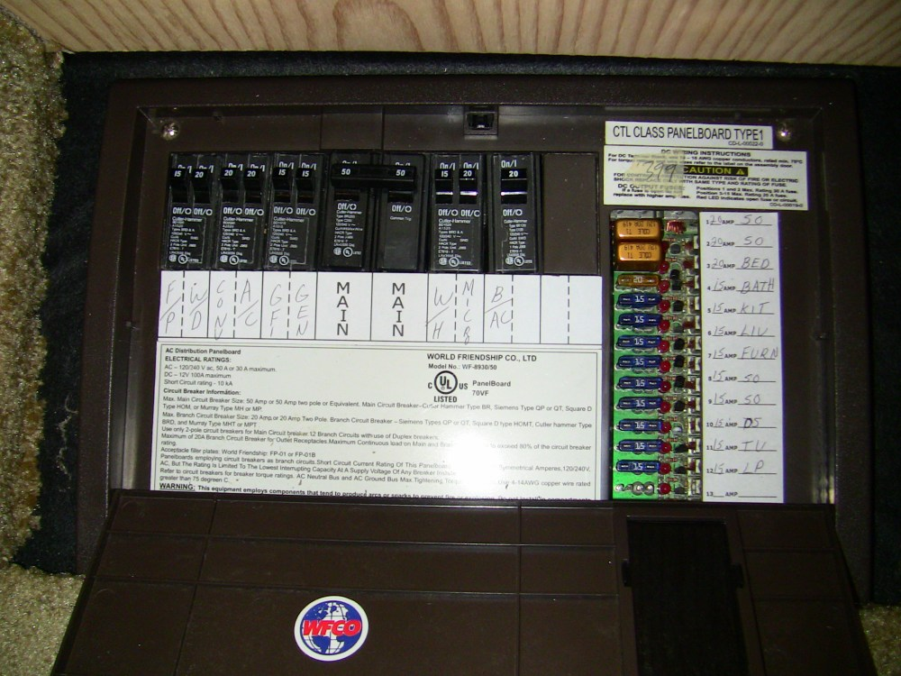 medium resolution of rv electrical power distribution panel diagram where to find fix marine fuse box dc