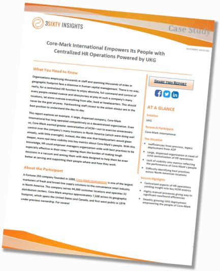 Core Mark International UKG Case Study Thumbnail