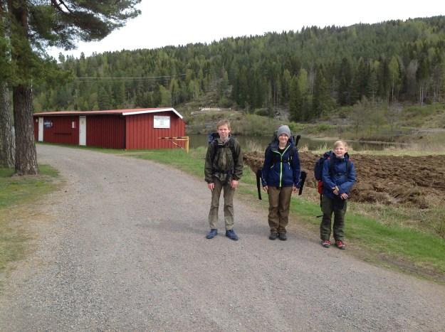 Bever møtte opp ved Modammen for å gå opp til Venstøptjenn. Foto: Trond Engen