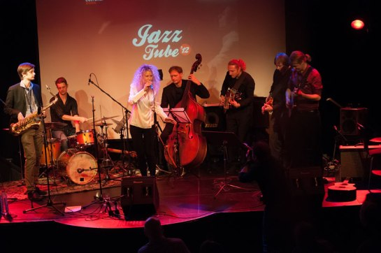 The winning acts from JazzTube at the Harmonie in 2012