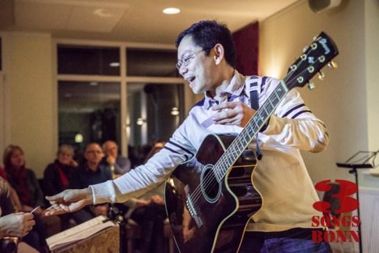 Janero arranges his three part choir