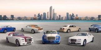 رولز -رويس تقدّم مجموعة من سبع سيارات تجسّد عدد إمارات الدولة