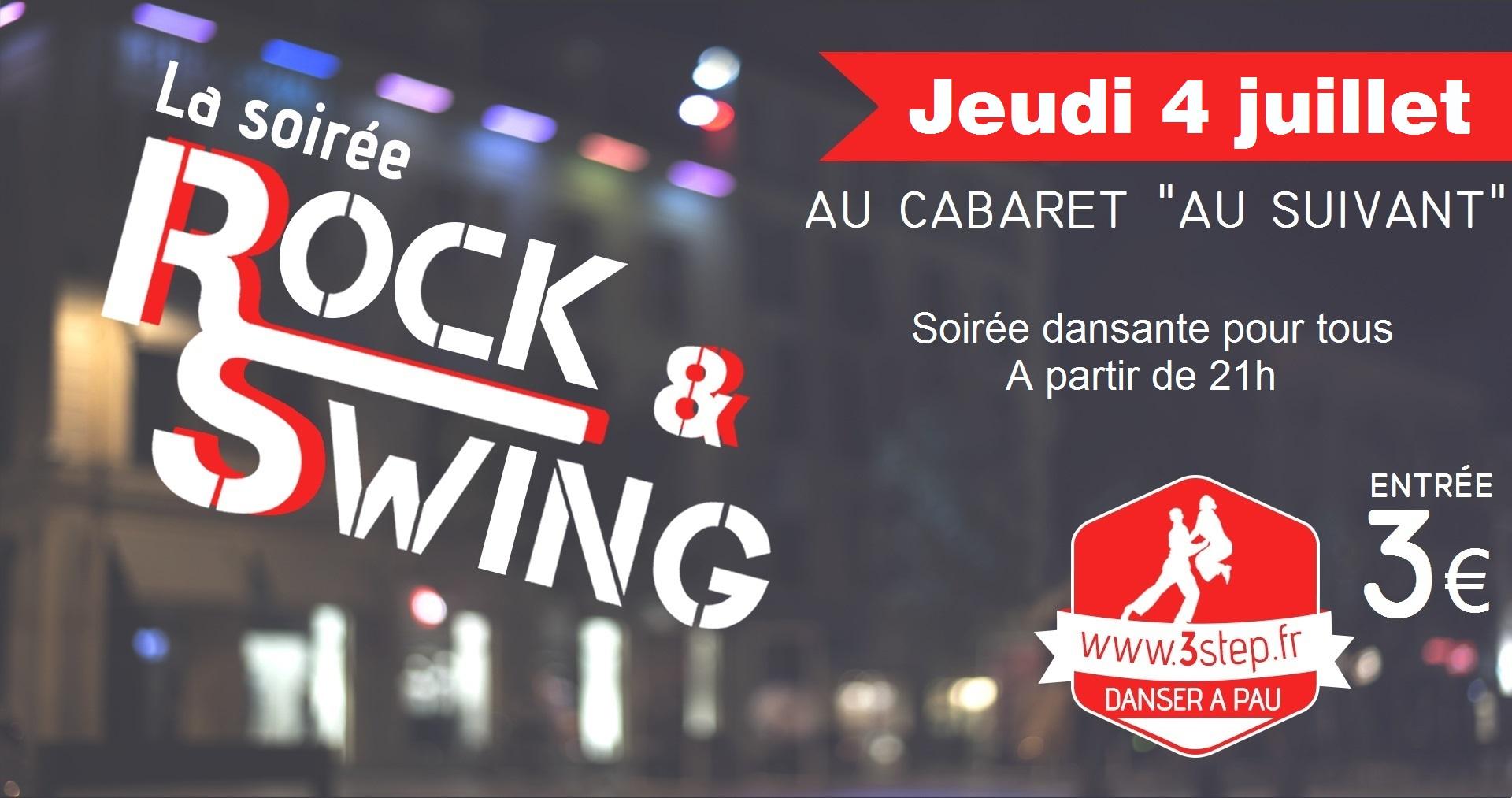 3step - soirée dansante rock swing au Cabaret Au Suivant - jeudi 4 juillet 2019