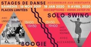 Stage de solo swing avec Alexandra et de Boogie avec Maurice