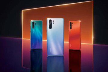 Il nuovo Huawei P30 in varie colorazioni