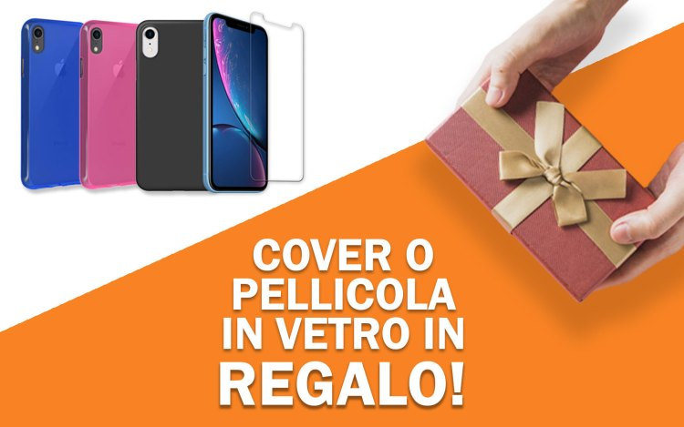 Cover o pellicola di vetro in regalo per iPhone XR