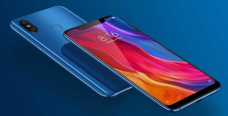 Xiaomi Mi 8 colore blu