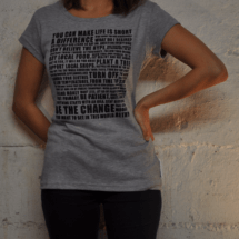 """T-Shirt Frau """"Manifesto"""" 29 CHF erhältlich im S, M, L, XL"""